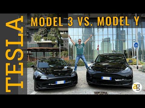 TESLA MODEL Y vs. MODEL 3 confronto
