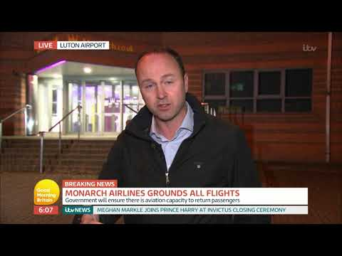 connectYoutube - Monarch Airlines Grounds All Flights After Being Placed In Administration | Good Morning Britain