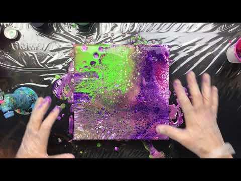 ( 648 ) Acrylic pouring new medium winsor and newton