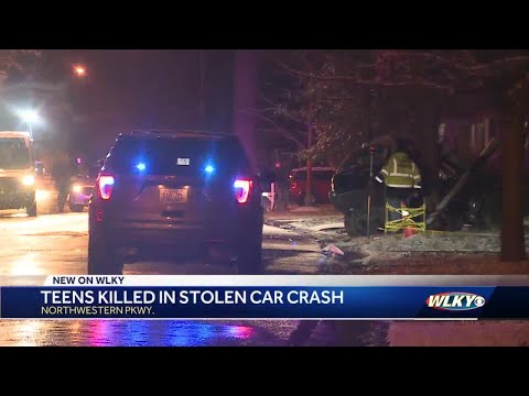 LMPD: 2 teenagers dead after crashing stolen vehicle into tree in Shawnee neighborhood