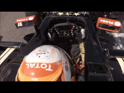 On-board with Romain Grosjean at Brands Hatch