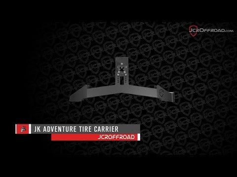 JcrOffroad - JK Wrangler Adventure Tire Carrier Installation