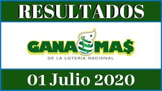 Resultados de la Lotería Gana Mas de hoy 01 de Julio del 2020