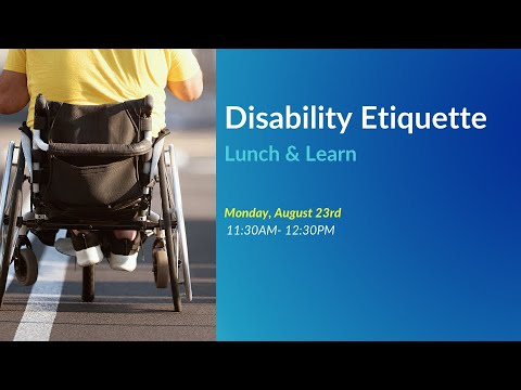 Disability Etiquette Seminar with Josh Sloan