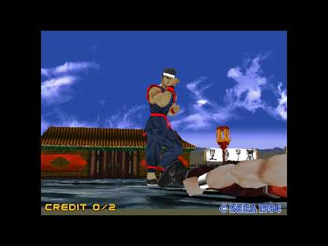 Virtua Fighter 2 progresos en MAME 0.196