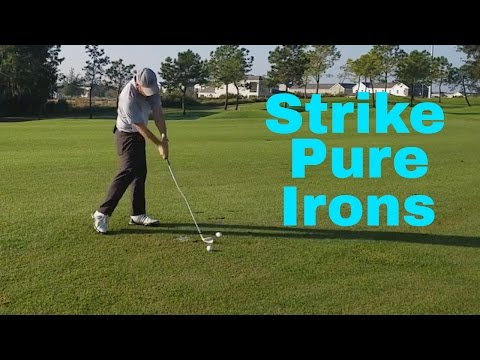 How To Strike Pure Iron Shots | Great Ball Striking With Your irons | Proper Arc Size