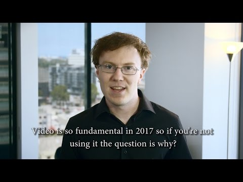 Video in 2017 is so fundamental so if you're not using it, why not??