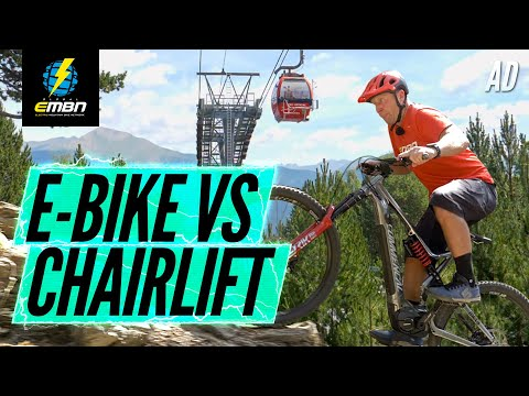 Can An E-Bike Beat A Chairlift? | Commencal Meta Power Vs The Vallnord Downhill Track