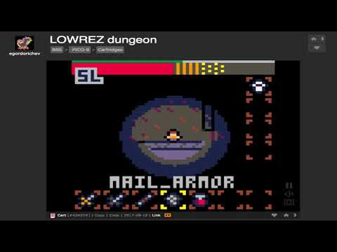 LOWREZ dungeon v.0.4 (longplay) by Egordorichev on the Pico-8