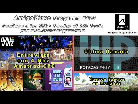 Programa #123 - Entrevista con 4 Mhz, Posadas Party última llamada y nuevos juegos MorphOs.