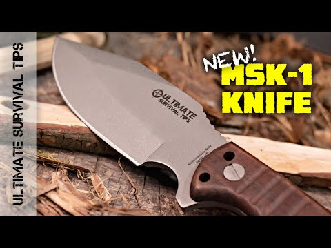 "New! MSK-1 Primitive Ultimate Survival Knife: All the MSK-1 ""Magic"" - For Half the Cash -Best Knife?"