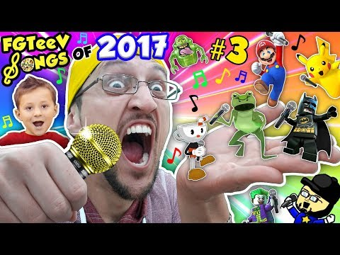 connectYoutube - FGTEEV SONGS of 2017 Part 3! Amazing Frog, Minecraft, Lego Dimensions, Scribblenauts =Youtube Rewind