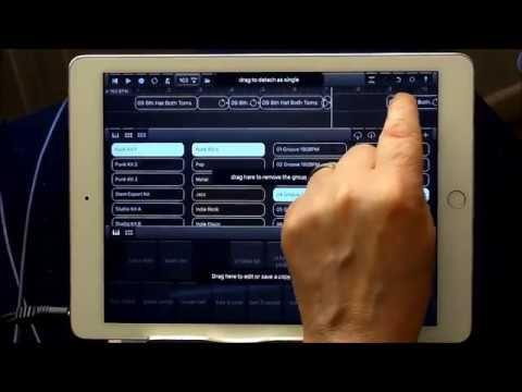 DRUM SESSION - How To Insert Splits Into Your Patterns - iPad Tutorial