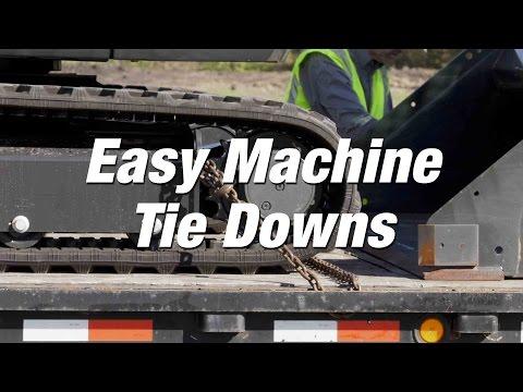 R-Series Excavators: Easy Machine Tie Downs