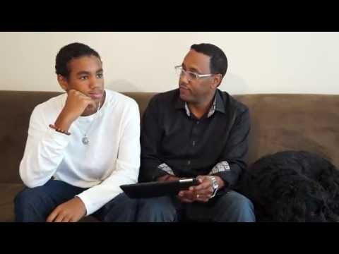 Having The Smart Talk with my son, Christopher