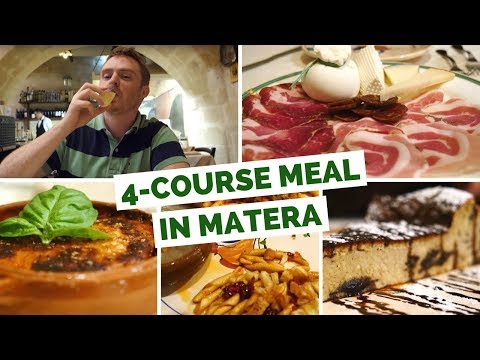 Italian Cuisine – Eating a 4 course meal in Matera, Italy