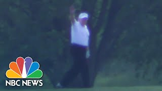 Watch: Trump Visits Golf Course As States Loosen COVID-19 Restrictions | NBC News