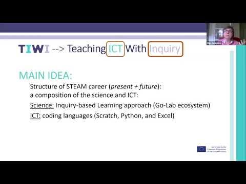 """Vaizdo konferencija """"Projektas TIWI – tyrinėjimu grįsto mokymosi patirtis integruojant programavimą"""""""
