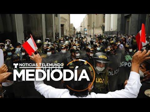 Manifestantes en Perú reclaman el regreso de Martín Vizcarra | Noticias Telemundo