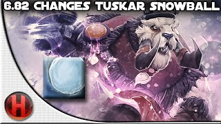 6.82 Changes Dota 2 - Tusk | Snowball Spell Update