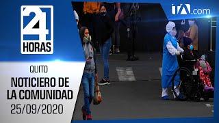Noticias Ecuador: Noticiero 24 Horas 25/09/2020 ( De la Comunidad Segunda Emisión)