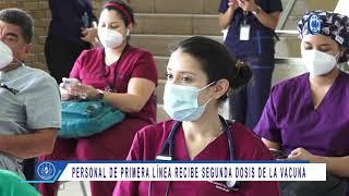 Personal de primera línea recibe segunda dosis de la vacuna css