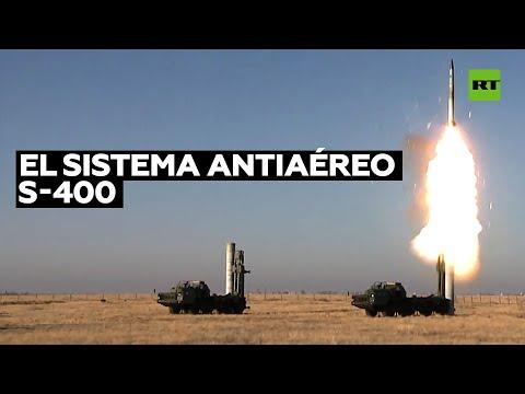 Sistemas de misiles antiaéreos S-400 se prueban en el sur de Rusia