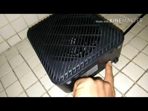 Walmart Mainstays electric fan heater open box