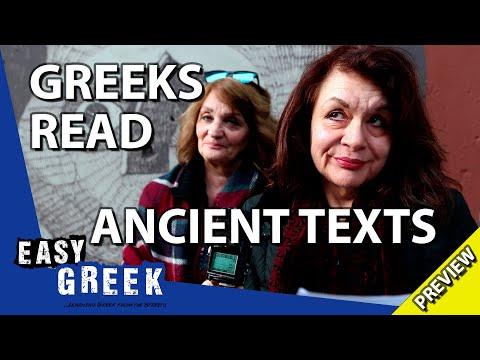 Modern Greeks trying to read ancient Greek (Trailer) | Easy Greek 56 photo