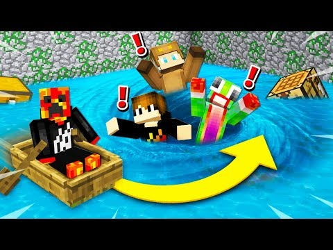 MINECRAFT RUN FROM THE FLOOD CHALLENGE with Unspeakable and Moose!