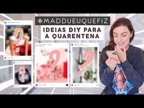 Ideias DIY p/ Quarentena! Vendo a #Maddueuquefiz