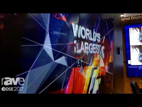 DSE 2017׃ Sharp Shows Off PN-V701 World's Largest Video Wall Display