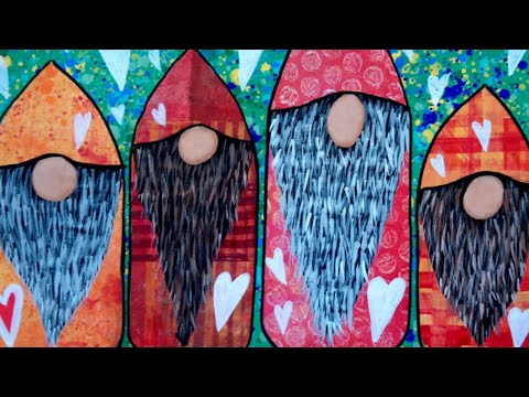 Whimsical Gnomes Collage | Mixed Media Art Journal Page Tutorial