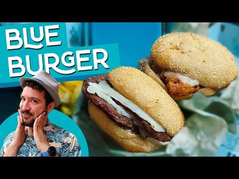 ¡BLUE BURGER! Probando la nueva receta secreta de Burger King España con CREMA DE QUESO AZUL