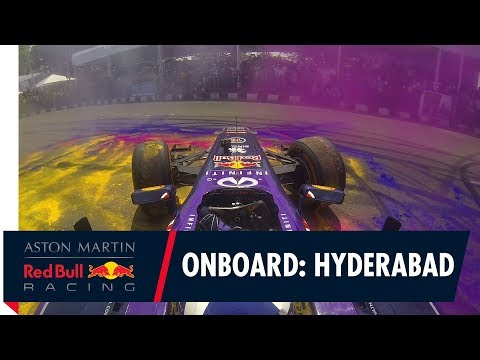 On Board with David Coulthard for a colourful spin in Hyderabad