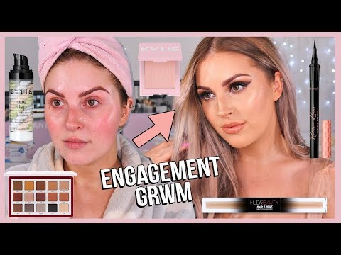 Rose Gold GRWM ? my ENGAGEMENT makeup! yay!