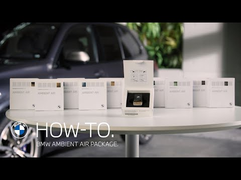 Clean and perfume the interior with a BMW Ambient Air Package |  BMW How-To