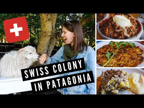 Visiting a SWISS COLONY in Patagonia + Eating Swiss POTATO PANCAKE and GOULASH in Argentina! 😋