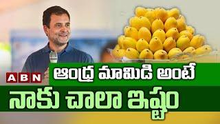 ఆంధ్ర మామిడి అంటే నాకు చాలా ఇష్టం | I Like Very Much Andhra Mangos Says Rahul Gandhi | ABN Telugu - ABNTELUGUTV