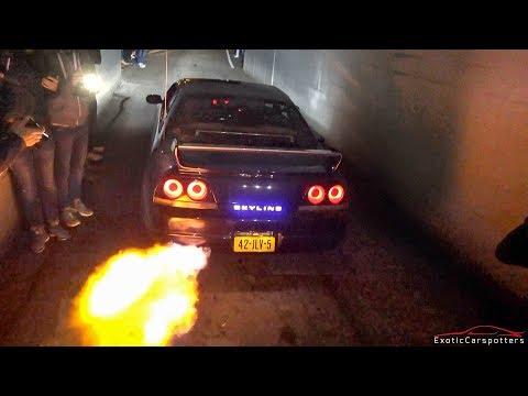 Supercars Leaving Car Meet Skyline R GPower M IPE M F - Car meets near me today