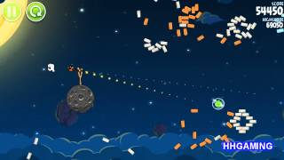 Angry Birds Space - Walkthrough 1-14 3 stars Pig Bang level guide how to get three star levels