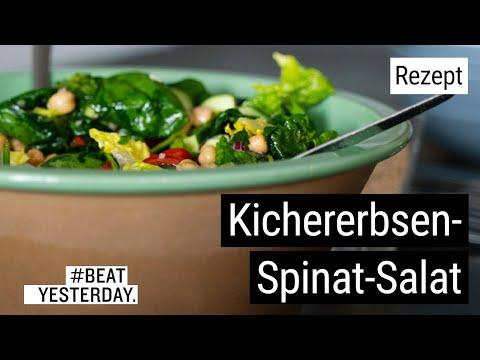 Gesunde Mittagspause: Kichererbsen Spinat Salat - #BeatYesterday