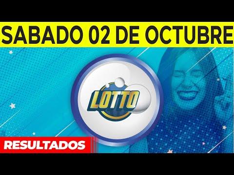 Sorteo Lotto y Lotto Revancha del Sábado 2 de octubre del 2021