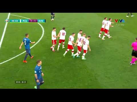 Euro 2020 | Ba Lan - Slovakia | Ba Lan gỡ hòa trong 1 tình huống phối hợp đẹp mắt