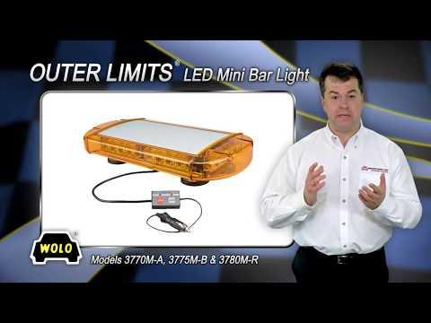 WOLO Outer Limits Mini LED Lightbar - Blue, 24 LEDs, 16 1/2in.L, Model# 3775M-B