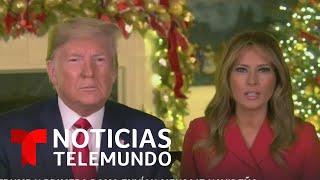 Presidente Trump reza por las tropas desplazadas fuera del país   Noticias Telemundo