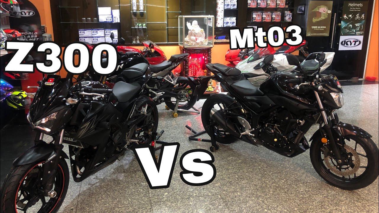 So Sánh Kawasaki z300 VS Yamaha MT03 – Thắng Thua Tùy Người Chơi