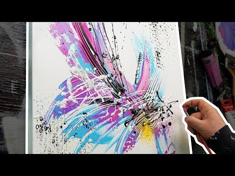 HOW TO make a beautiful little abstract painting | Aura