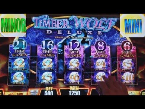 connectYoutube - Timber Wolf Deluxe Slot Machine ★Bonuses Won★ & ★ PROGRESSIVE JACKPOTS WON★ !!! Live Slot Play