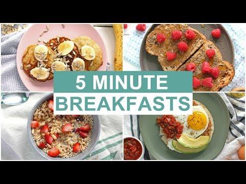 EASY 5 Minute Breakfast Recipes